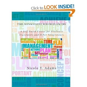 """""""Time Management for Freelancers: A Self-Paced Course for Busy Professionals"""" by Nicole Y. Adams is a book for freelancers wanting to gain control of their workplace productivity and ultimately to increase their profitability. Adams is a certified German/English translator and public relations consultant. As the title implies, this book functions as an interactive course with a virtual instructor asking questions, giving practical solutions and administering a quiz. Ass"""
