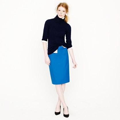 Petite pencil skirt in Super 120s | J.Crew