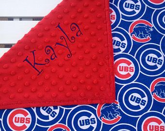 9 best minky images on pinterest minky baby blanket baby chicago cubs baby blanket cubs baby blanket personalized baby blanket custom made negle Images