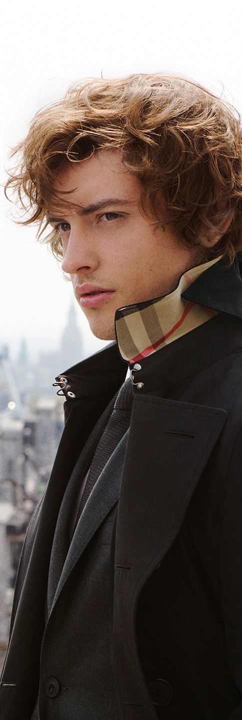 Josh Whitehouse in The Chelsea Trench Coat for the Mr. Burberry campaign