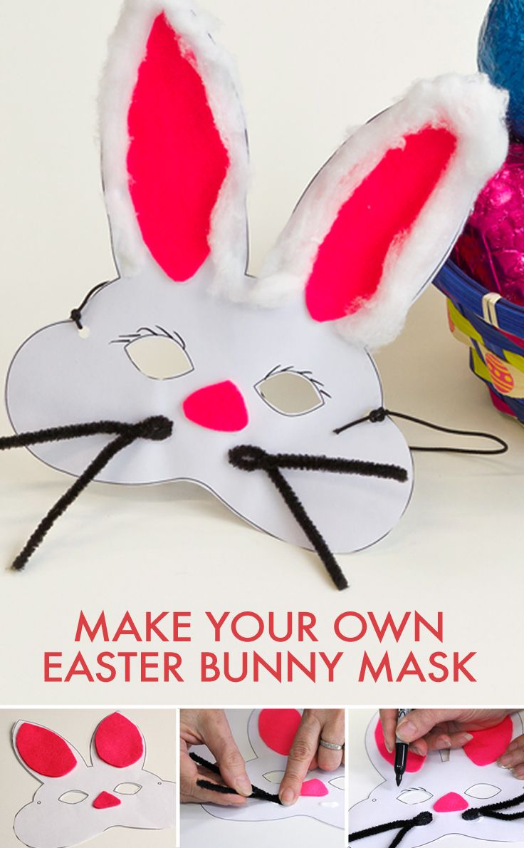 This cute little bunny mask is a fun activity for the kids that will keep them entertained over the #Easter break.