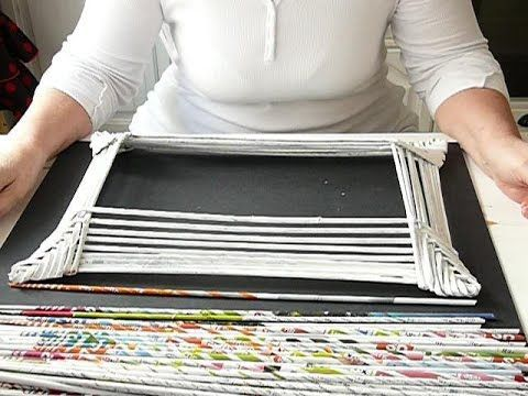 Bilderrahmen aus Papier Röllchen