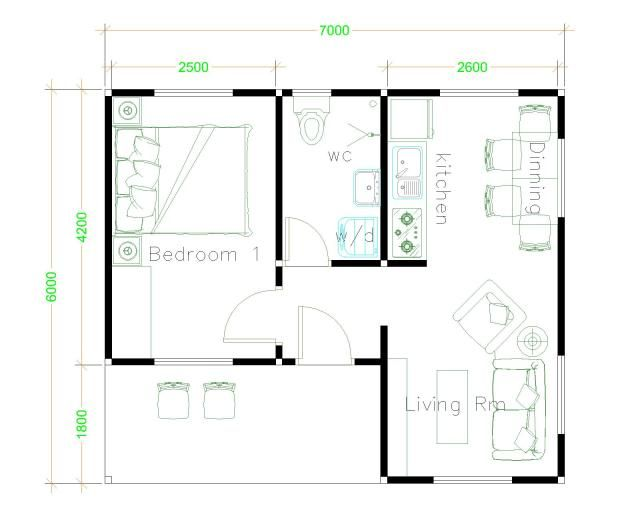 House Design 6x7 With 2 Bedrooms House Plans S Unique House Plans Simple House Plans Simple House Design