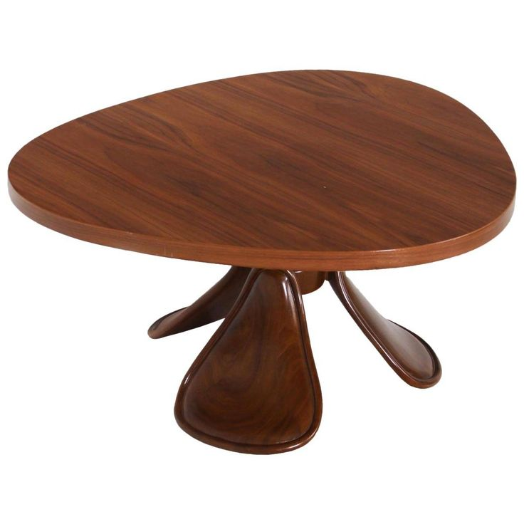 California Craftsman Sculptural Walnut Coffee Table | From a unique collection of antique and modern coffee and cocktail tables at https://www.1stdibs.com/furniture/tables/coffee-tables-cocktail-tables/
