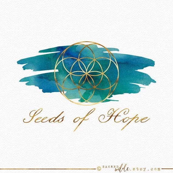 Seme di vita di disegno geometrico, semi di vita, geometria sacra, Logo spirituale, Mandala Logo, Logo metafisico, insegnante di Yoga