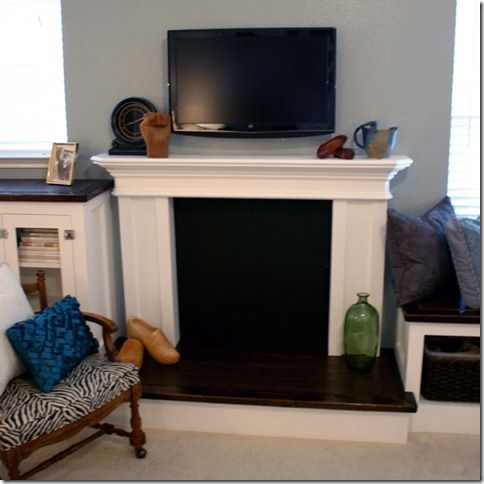 Build A Fake Fireplace For The Center Chimney Wall In Dining Room