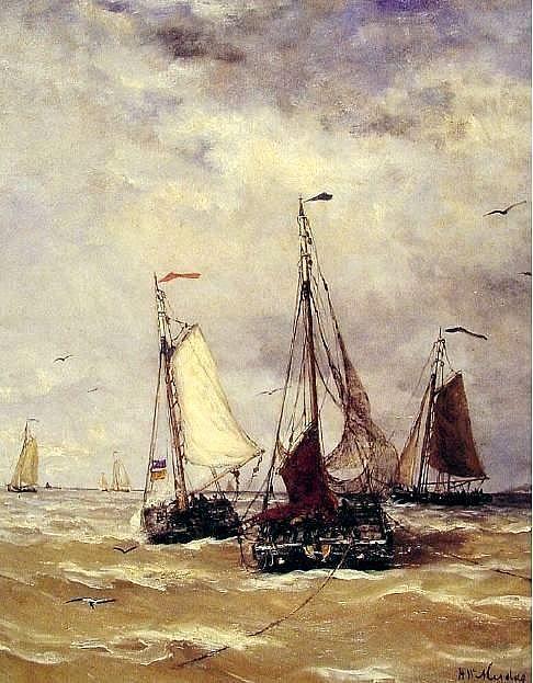 Hendrik Willem Mesdag (1831-1915) Voorbereiding voor vertrek.