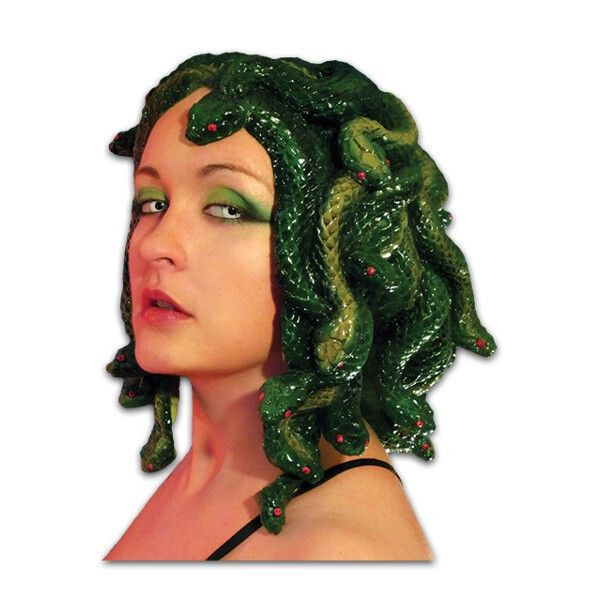 Sculpted by the amazing Kristen Phillips, this Medusa Wig looks like it came directly off the head of the most famous Gorgon from Greek Mythology. Every snake has been meticulously sculpted and painte