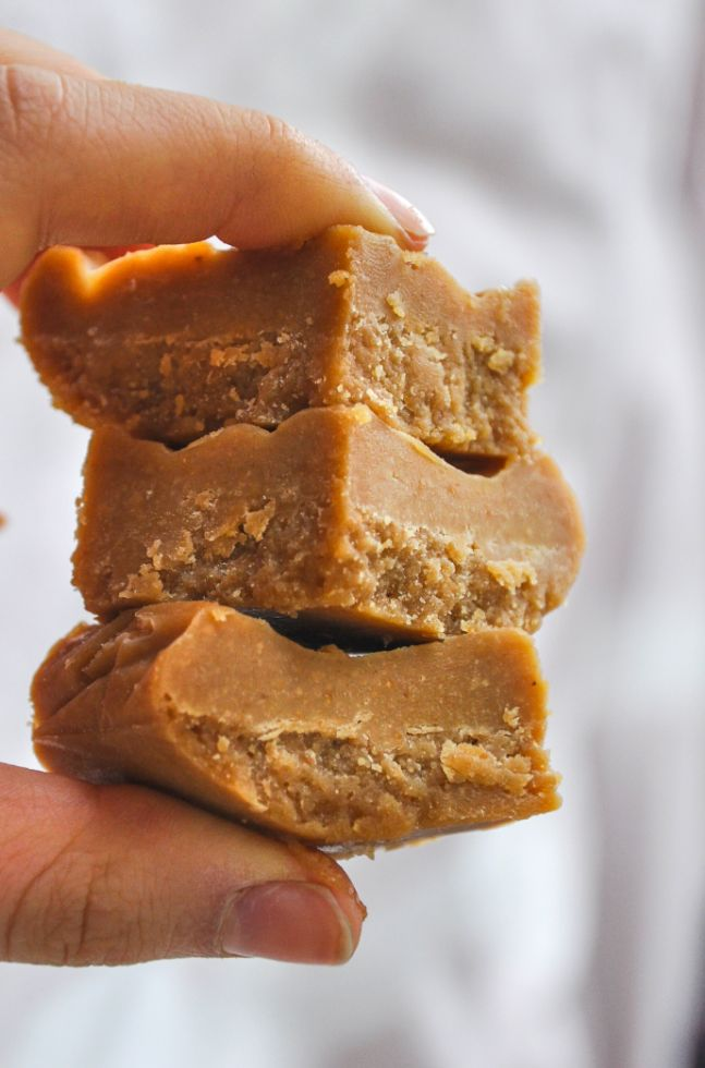 Creamy, decadent fudge is only 5 ingredients and a freezer away...acceptable ingredient list!