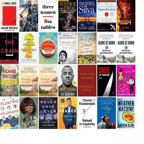 Saturday, July 27, 2019: The Derry Public Library has 29 new bestsellers, four n…