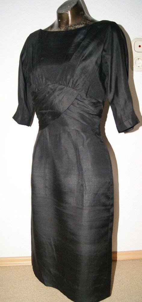 Vintage Kleid reine Seide Gigi Young New York reine Seide Gr. 36-38 Hepbrun Stil
