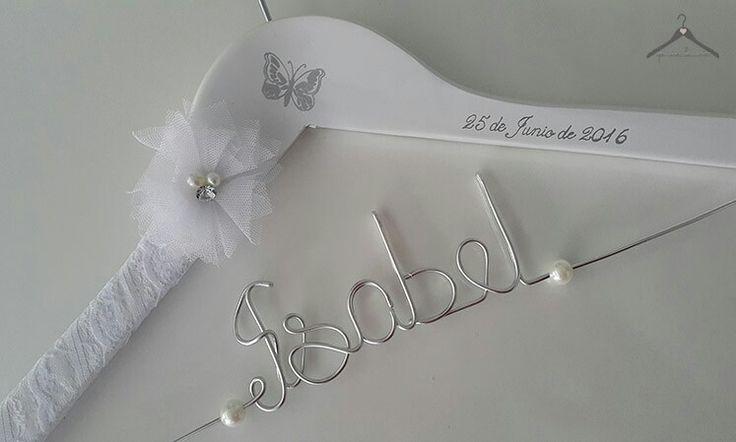 Percha personalizada para novia
