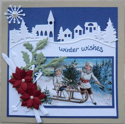 Creaties met Papicolor papier: Vandaag een kerstkaart.