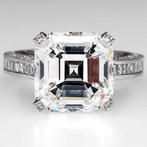 GIA 7 Carat Asscher Cut Diamond Engagement Ring