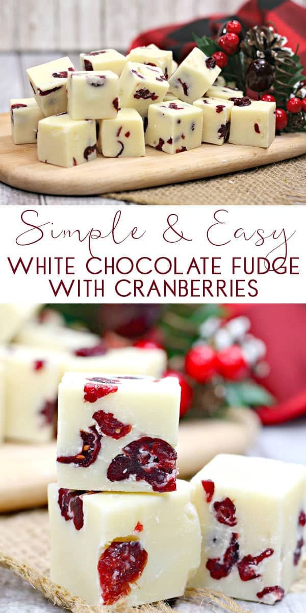 Easy White Chocolate and Cranberry Fudge