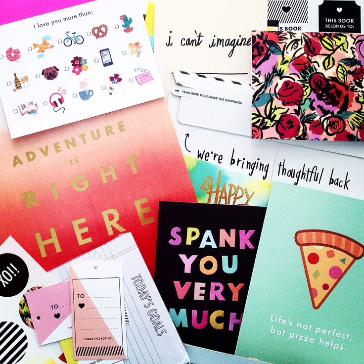 Stationery heaven! Happy Mail from A beautiful Mess
