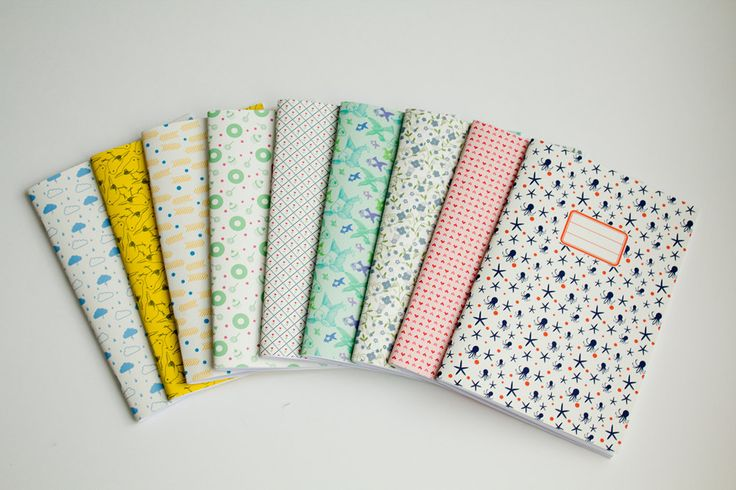 Belle harmonie de petits carnets hand-made.