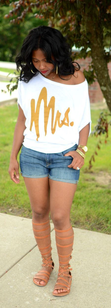I'm nobody's Mrs. But if I ever get the opp, I would rock the heck out this shirt!!!