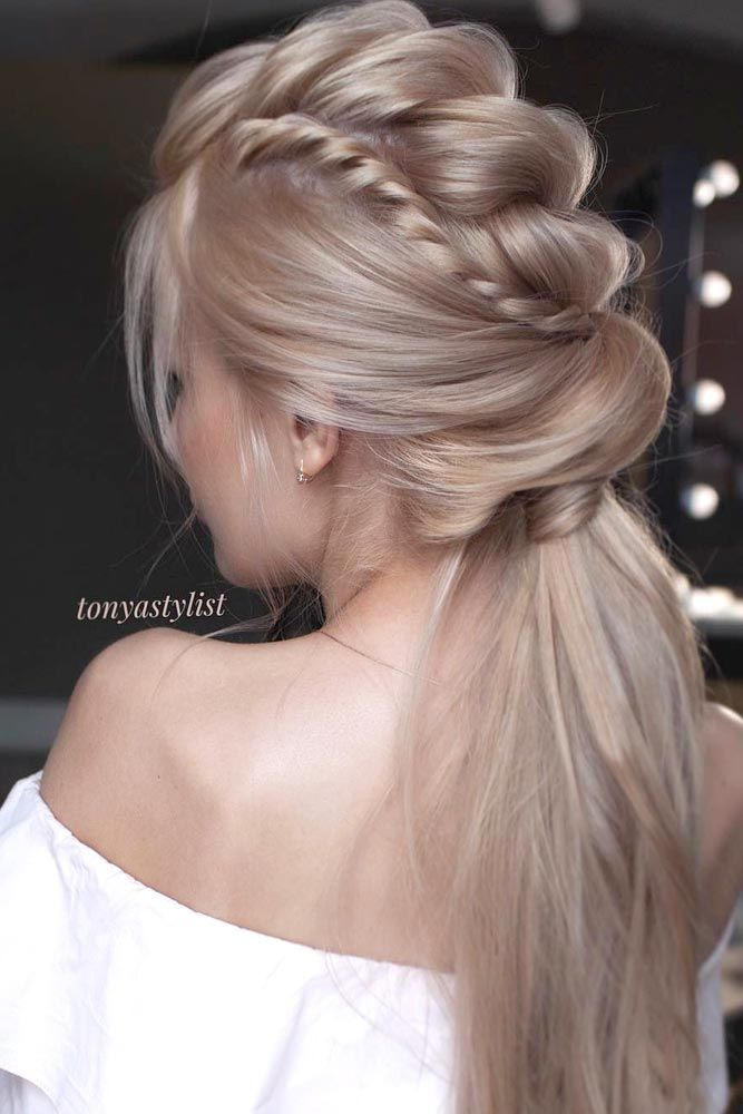 27 Perfect Prom Hair Styles For Short Medium And Long Hair Hair Styles Braided Ponytail Hairstyles Long Hair Styles