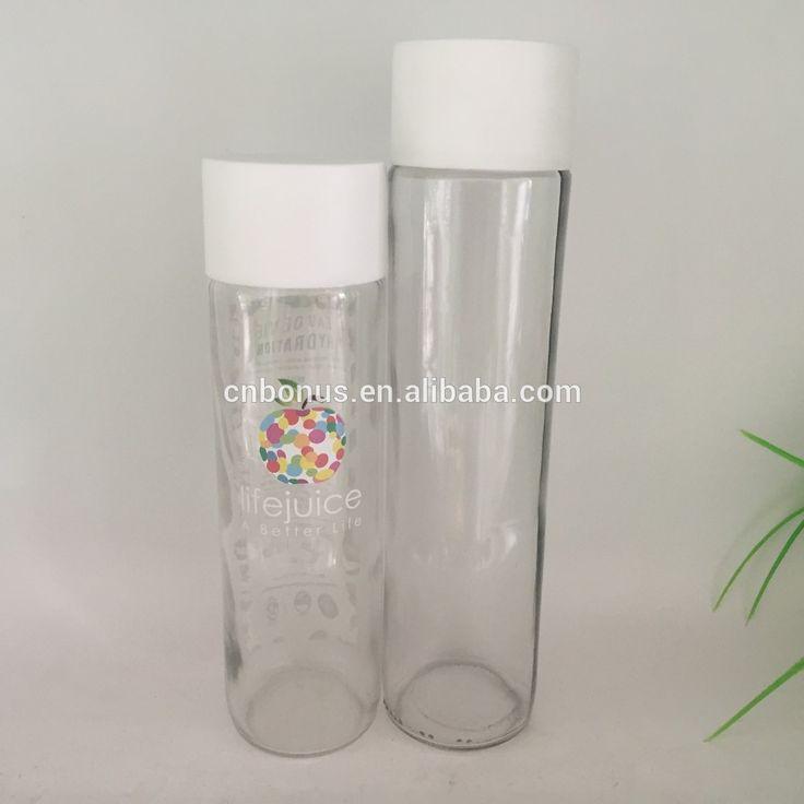 botella botella de vidrio de 300 ml de agua Voss estilo 375ml