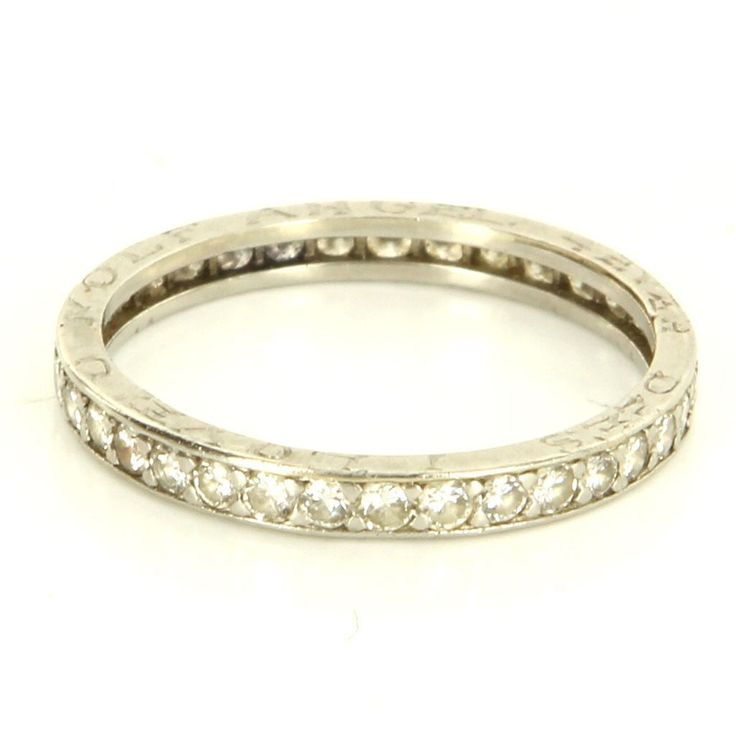 Vintage Platinum Diamond Eternity Wedding Stack Band Ring Fine Estate Jewelry In Watches Antique Retro Rings