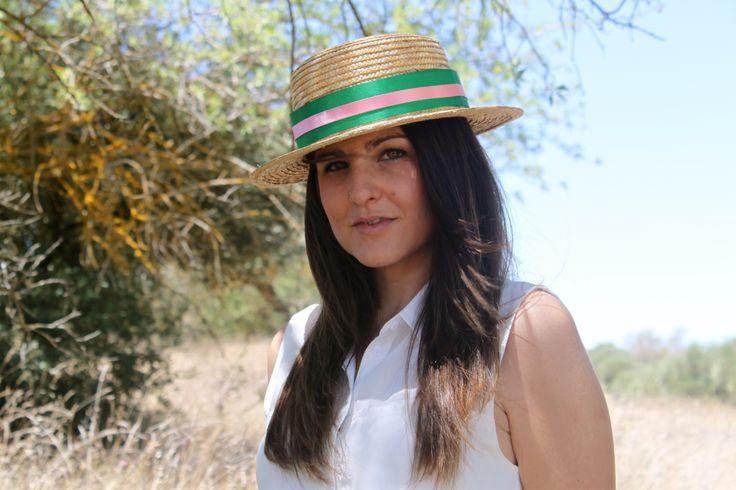 Canotier sencillo. Tocados Chic by Inma Segovia