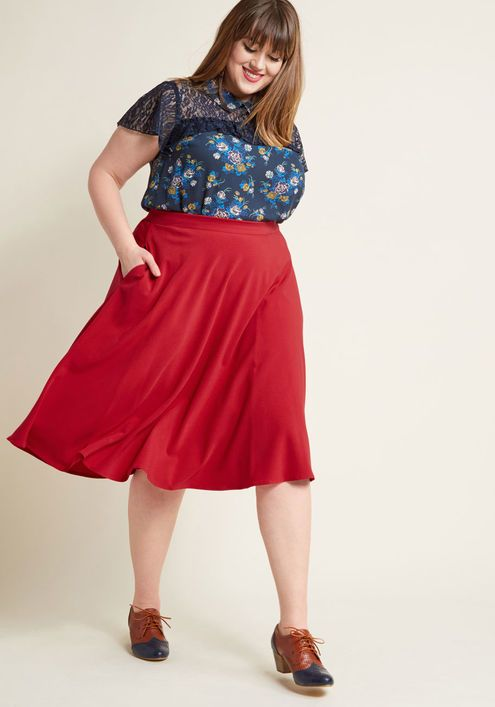 19d002e859c5a4 Just This Sway A-Line Skirt in Carnation in 2019 | Outfits/clothes ...