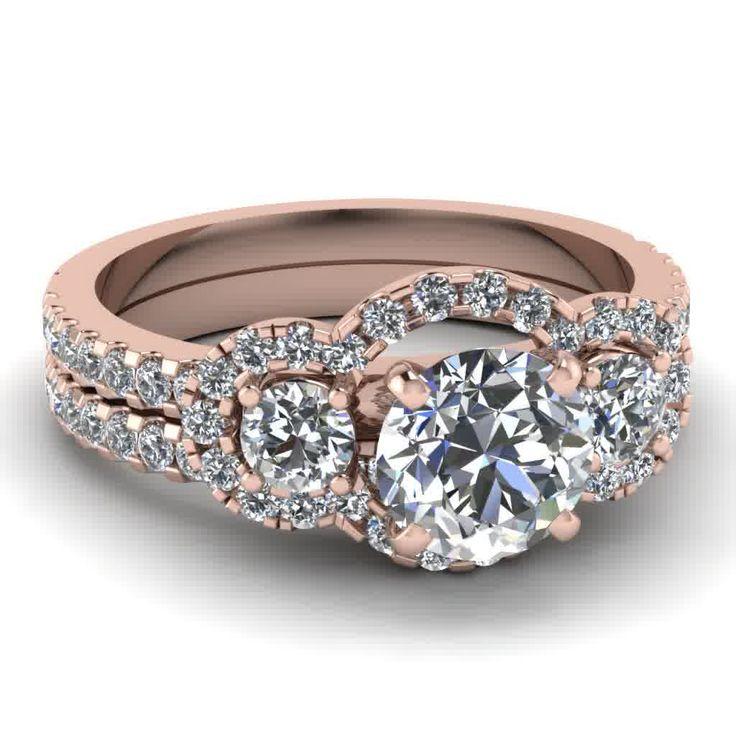 Rose Gold Diamond Wedding Ring Rose gold wedding ring