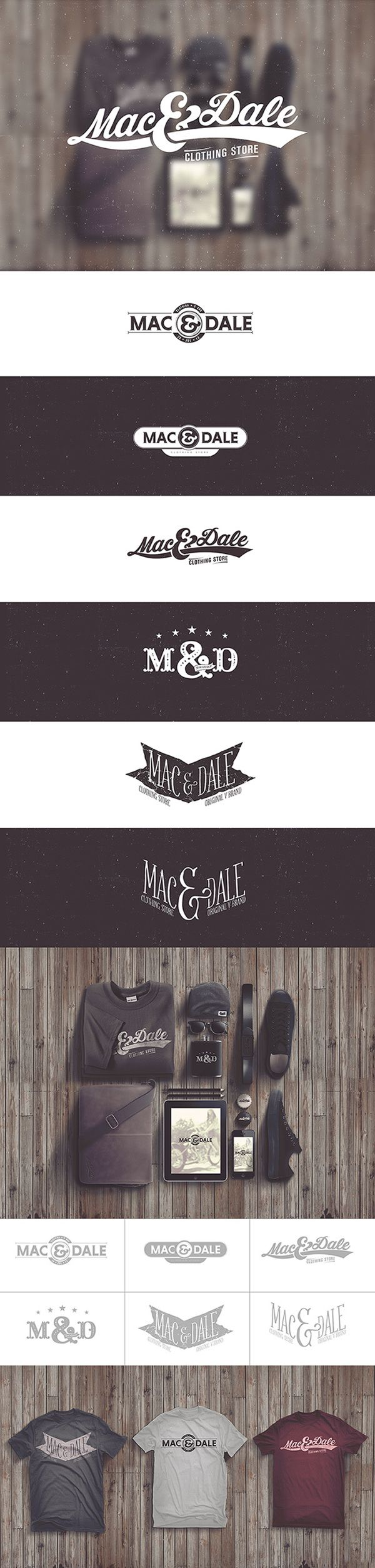 """Mac & Dale by Loopstok , via Behance Rustic Looking """"Logos and Identity Systems"""" December 2013 Behance 2013"""