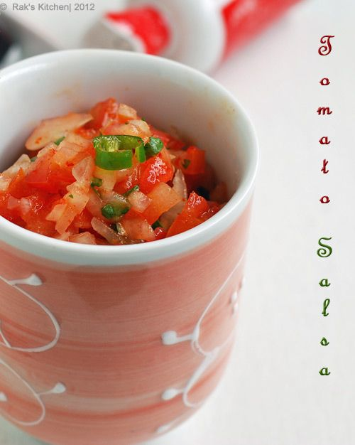 Fresh Tomato Salsa Recipe — Dishmaps