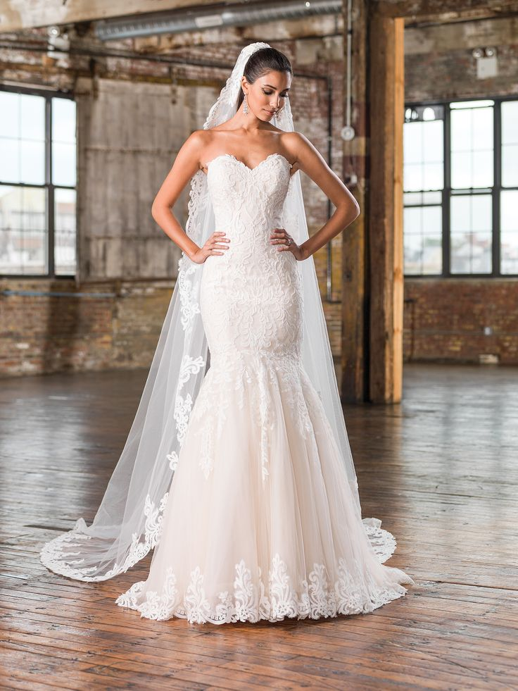 14 best images about justin alexander wedding gowns on for Fit and flare wedding dress body type