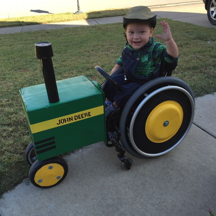 John Deere Tractor Wheelchair Halloween Costume