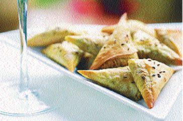 Arabic Food Recipes: Moroccan-spiced lamb triangles recipe