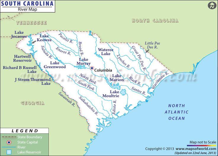 South Carolina River Map in 2020 South carolina