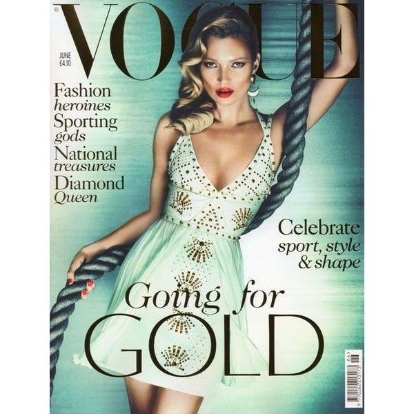 Kate Moss UK Vogue June 2012 Magazine Cover ❤ liked on Polyvore featuring magazine, backgrounds, models, people and art