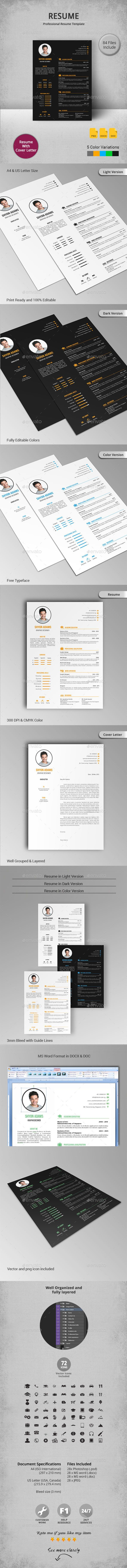 Best Cv Images On   Cv Template Design Resume And