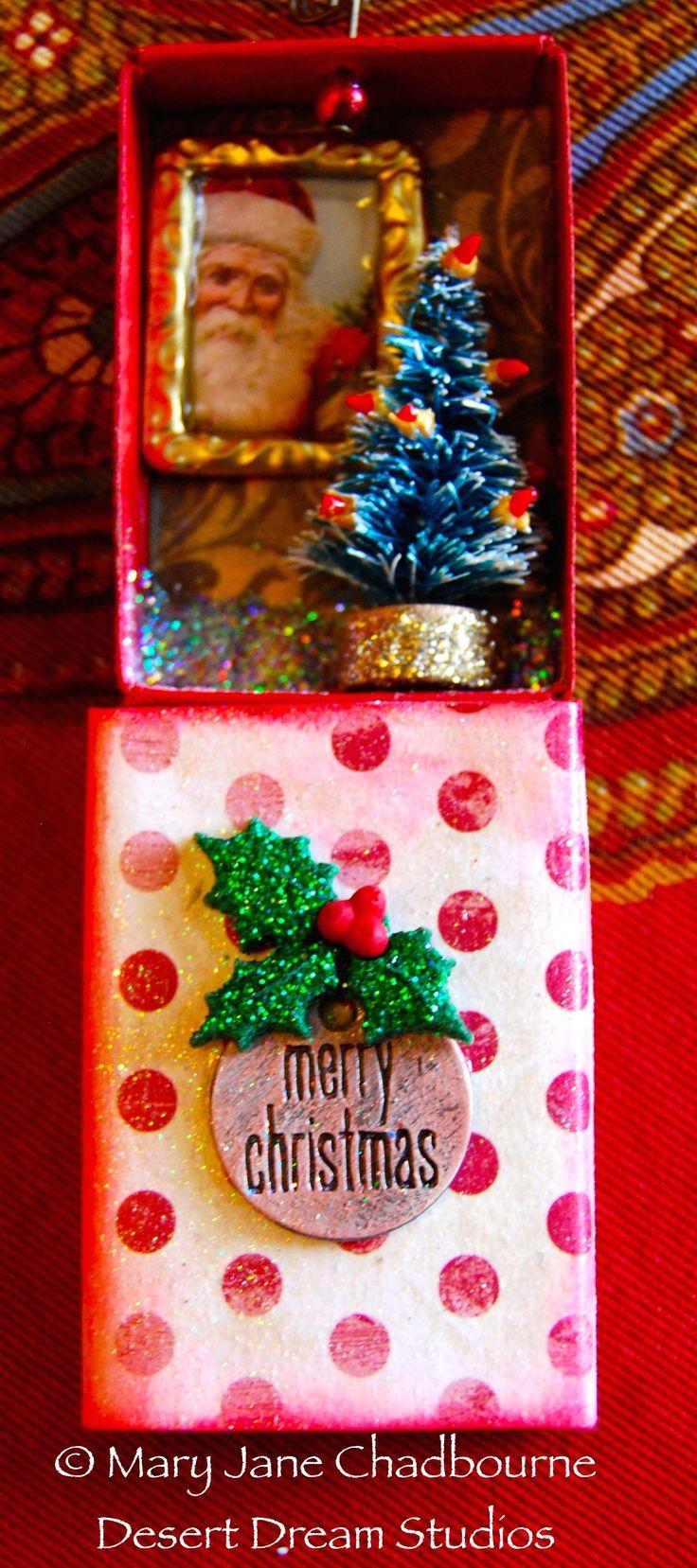 Small Matchbox Ornament by MJ Chadbourne/Desert Dream Studios