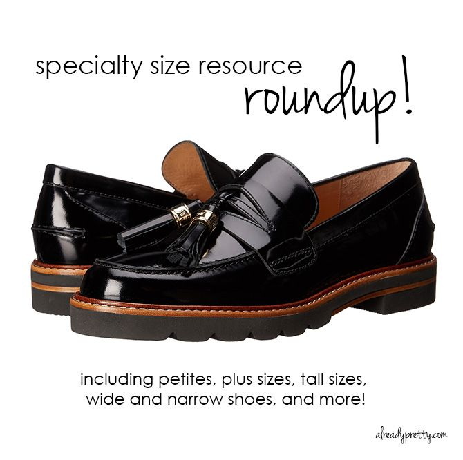 Where to buy specialty sizes, including petites, plus sizes, tall sizes,  wide. Narrow ShoesBody ImagesClothing ...