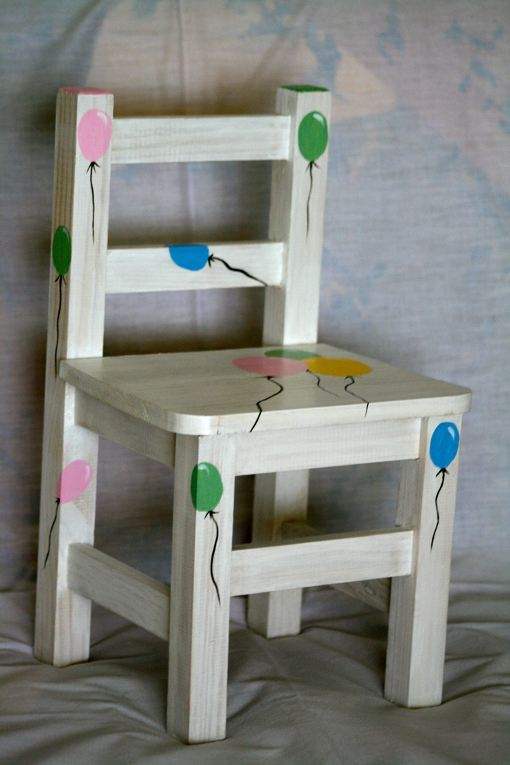 1000 images about sillas pintadas on pinterest for Sillas infantiles