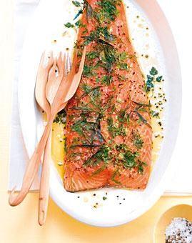 Rezept: Lachs aus dem Ofen mit Dill und Estragon