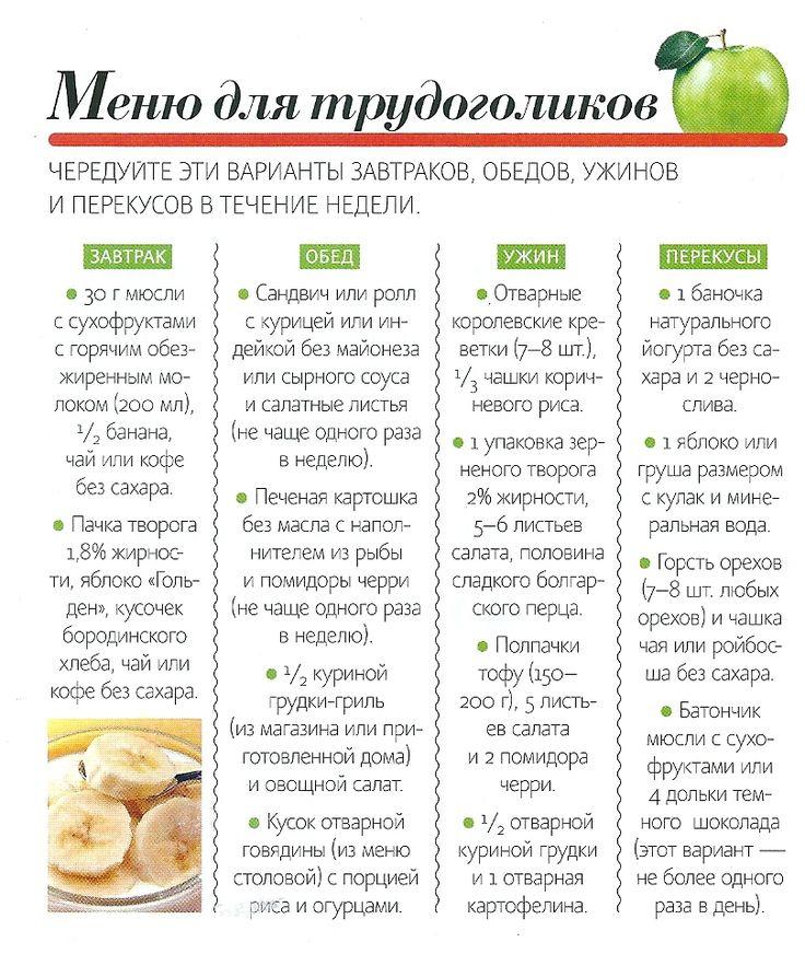 Составить простую диету