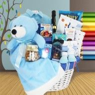 MOMMY AND ME - LET'S CELEBRATE BABY BOY GIFT BASKET