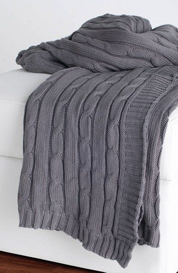 Warm grey throw blanket