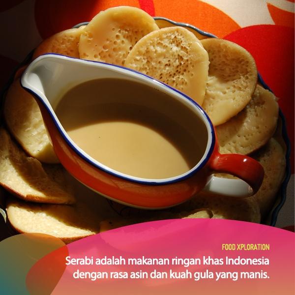 Salah satu cemilan tradisional Indonesia yang menggabungkan rasa asin dan manis dengan sempurna! Siapa disini yang hobi makan serabi?    *as posted on XL Rame