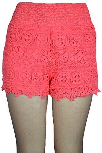 143Fashion Womens Scallop Hem Crochet Lace Mini Shorts - http://www.darrenblogs.com/2016/09/143fashion-womens-scallop-hem-crochet-lace-mini-shorts/