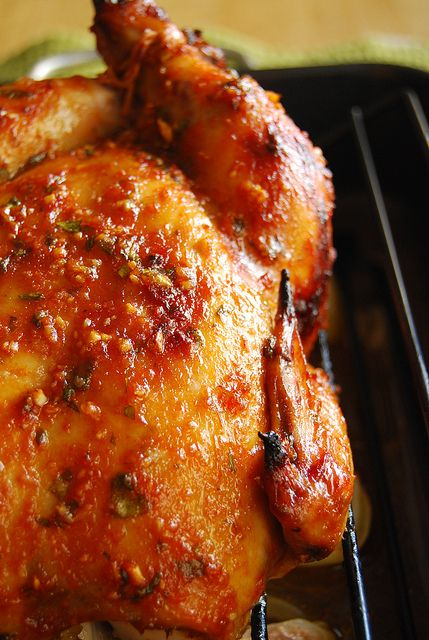 Recipe for Sambal Roasted Chicken - Sambal chicken is one of my favorite dishes. It has many different flavors and is nicely balanced. A versatile dish...