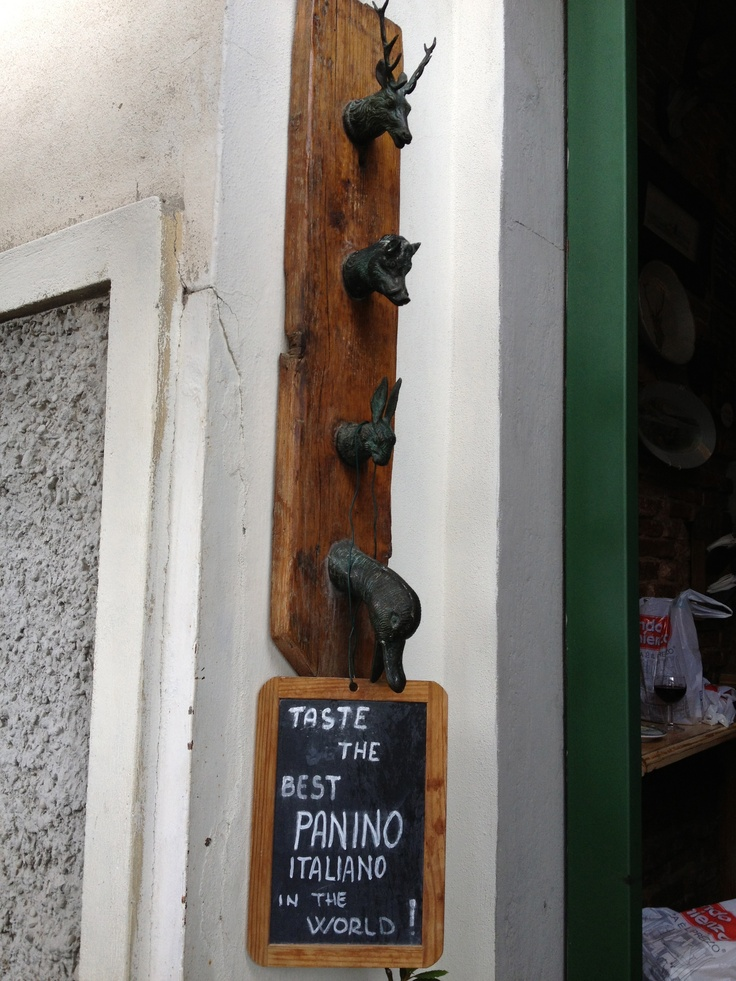 Sant Ambrogio - Florence. Great stop for very special favors of selected crostini or panini made by the charming owner Marco