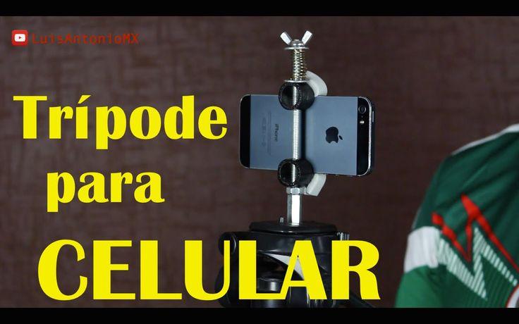 Trípode Casero para Celular Soporte adaptador para sujetar el teléfono celular…