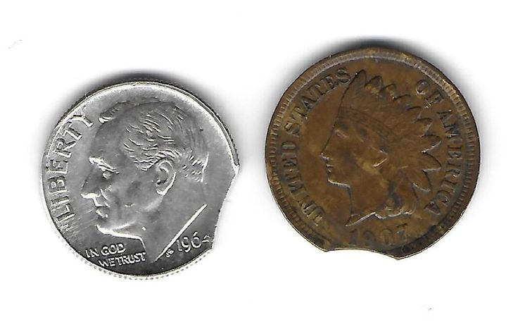 U,S, MINT ERROR COINS 1907 INDIAN CENT 1964 D SILVER ROOSEVELT DIME