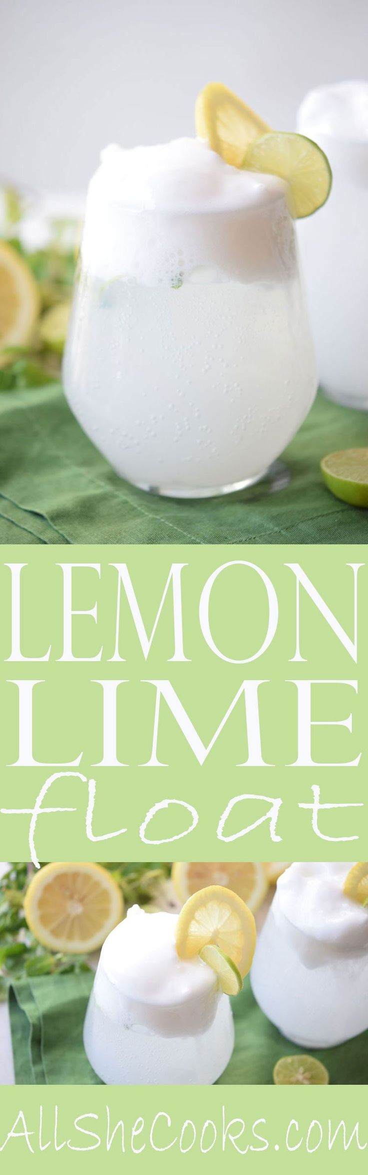 Best Lemon Lime Float recipe. This refreshing drink is perfect for your next party.